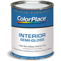 Colorplace Interior Semi-Gloss White Paint, 1 Qt