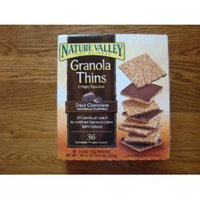 Nature Valley Granola Thins Crispy Squares - Dark Chocolate - Box of 36