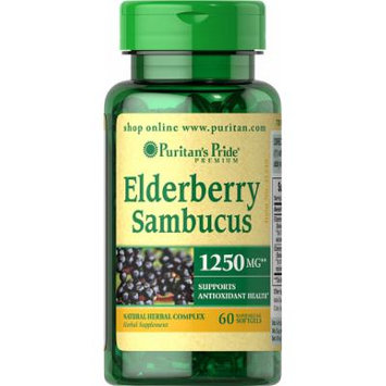 Puritan's Pride Elderberry Sambucus 1250 mg-60 Softgels