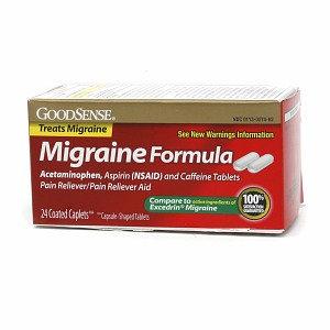 Good Sense Migraine Formula Pain Reliever/Pain Reliever Aid Coated Caplets