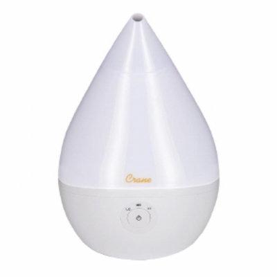 Crane USA Ultrasonic Cool Mist Humidifier, 0.5 Gallon, White, 1 ea