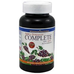 WooHoo Natural Triple Strength Complete OPC-Q10 Antioxidant Formula 180 Capsules - 3 Month Supply