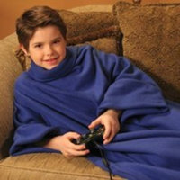 Snuggie for Kids Deluxe with Slipper Socks - Blue