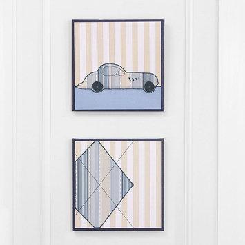 Farallon Brands Petit Tresor 2-Piece Embellished Canvas Wall Art