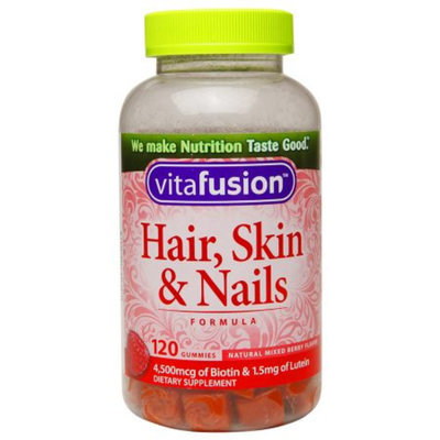 Vitafusion Dietary Supplement Gummy for Hair, Skin & Nails - 120 Count