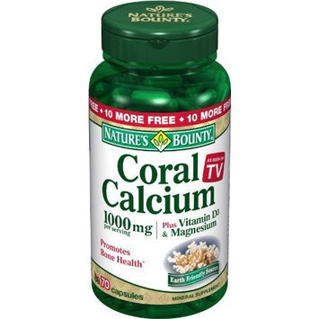 Nature's Bounty Coral Calcium 1000 Mg Plus , 70 Capsules (Pack of 2)