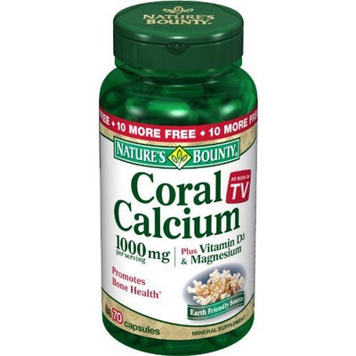 Nature's Bounty Coral Calcium 1000 Mg Plus , 70 Capsules (Pack of 2)