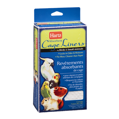 Hartz Absorbent Cage Liners For Birds And Small Animals - 7 CT