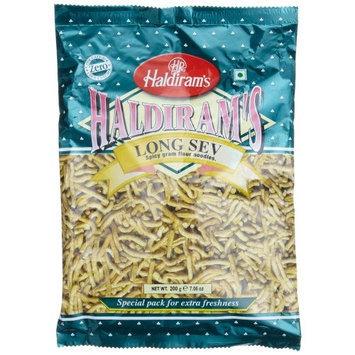 Haldiram's Long Sev Spicy Gram Flour Noodles, 7.06-Ounce Pouch (Pack of 5)