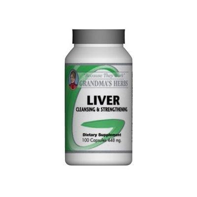Grandma's Herbs Liver Cleanser - Detoxifier - All Natural Herbal Cleanse and Strengthener for the Liver - 100 Capsules