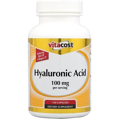Vitacost Brand Vitacost Hyaluronic Acid with BioCell Collagen -- 100 mg per serving - 120 Capsules
