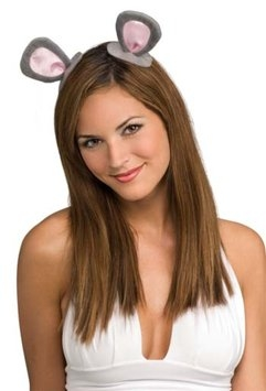 Rubies Clip-On Mouse Ears Adult Halloween Accessory