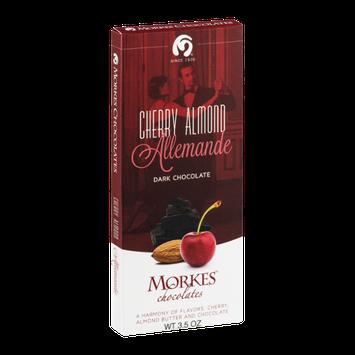 Morkes Chocolates Dark Chocolate Bar Cherry Almond Allemande