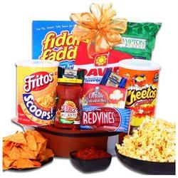 Aldercreekgiftbaskets.com Alder Creek Football Party Snack Gift Basket, 10 pc