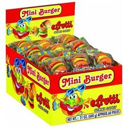 Gummy Burgers & Hot Dogs Mini Gummi Burger Approximately