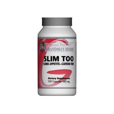 Slim Too - All Natural Herbal Weight Loss Supplement with No Caffeine - 100 Capsules