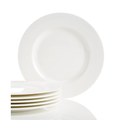 Lenox Classic White Bone China Set of 6 Salad Plates