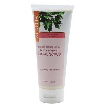 Alaffia - Skin Renewal Facial Scrub Baobab & Shea - 3.4 oz.