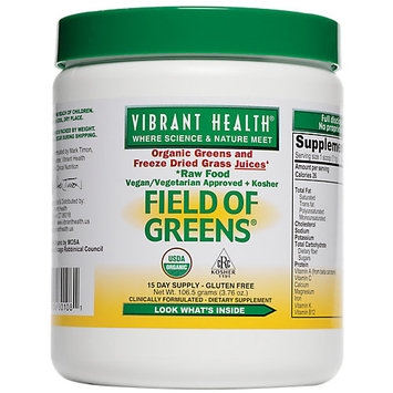 Vibrant Health - Field of Greens Raw Green Food - 3.76 oz.