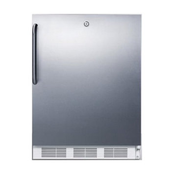 SUMMIT ADA compliant all-refrigerator with automatic defrost, front lock, stainless steel door and towel bar handle