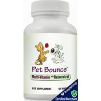Pet Bounce - Vitamin Wafer Multivitamin for Cats & Dogs with Resveratrol Antioxidant