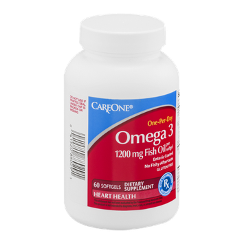 CareOne Omega 3 1200mg Fish Oil Softgels - 60 CT