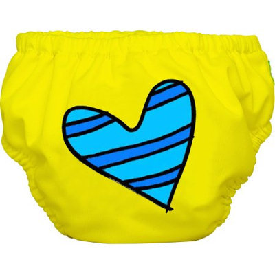 Winc Design Limited Charlie Banana Extraordinary Training Pants, Blue Petit Coeur on Yellow