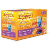 Emergen-C Variety Pack, Super Orange, Tropical, Blue