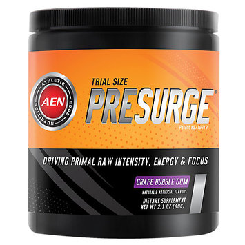 Athletic Edge Nutrition, PreSurge Grape Bubble Gum 10 Servings