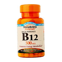Sundown Naturals High Potency B-12 500mcg