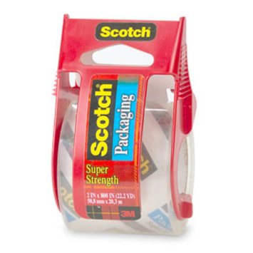 3m 3M Scotch Packaging Tape With Sure Start Dispenser