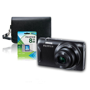 Fujifilm T555 16MP Digital Camera Bundle 600013932 (Black)