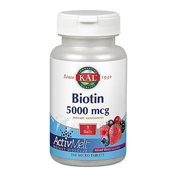 Kal - Biotin ActivMelt Mixed Berry 5000 mcg. - 100 Tablets