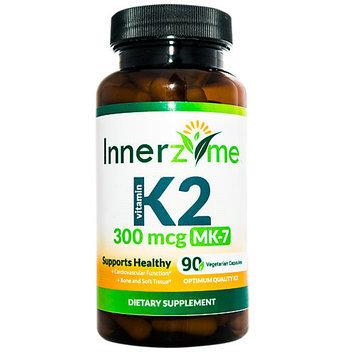 Innerzyme Vitamin K2 MK-7 300 mcg - 90 Vegetarian Capsules