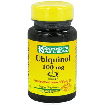 Good and Natural Ubiquinol 100 mg - Advanced Active Form of CoQ-10, 60 softgels,(Good'n Natural)
