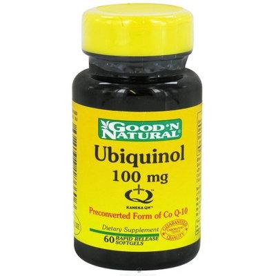 Good and Natural Ubiquinol 100 mg - Advanced Active Form of CoQ-10, 60 softgels,(Good'n Natural)