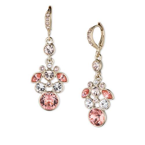 GIVENCHYGlitz Cluster Drop Earrings, Goldtone