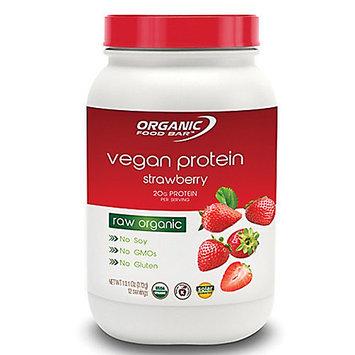Organic Food Bar Vegan Protein Strawberry 12 Servings