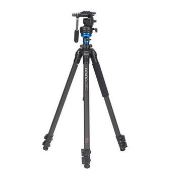 Benro C1573FS2 Video Fluid Head Tripod Kit Single Legs Carry Case w/Strap Incl.