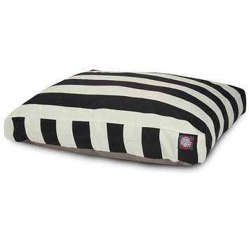 Majestic Pet Products, Inc. Majestic Pet Vertical Stripe Rectangular Bed, Black