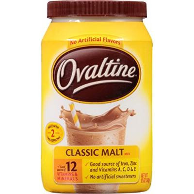 Nestlé Ovaltine Classic Malt Beverage, 12-Ounce Canisters (Pack of 6)