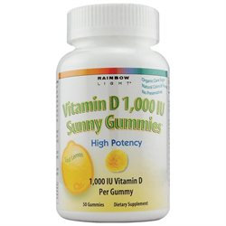 Rainbow Light Vitamin D3 1000 IU Sunny Gummies Sour Lemon