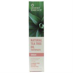 Desert Essence Natural Tea Tree Oil Toothpaste - Ginger