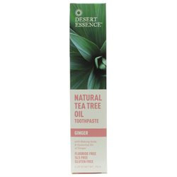 Desert Essence Natural Tea Tree Oil Toothpaste - Ginger