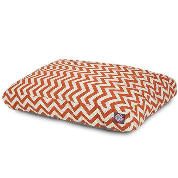 Majestic Pet Products, Inc. Majestic Pet Products Burnt Orange Zig Zag Medium Rectangle Pet Bed