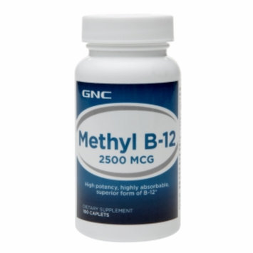 GNC Methyl Vitamin B-12 2500mcg, Tablets, 100 ea