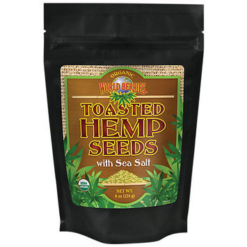 FunFresh Foods World Berries Toasted Hemp Seeds with Sea Salt 8 oz