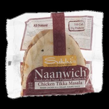 Sukhi's Naanwich Flatbread Sandwich Chicken Tikka Masala
