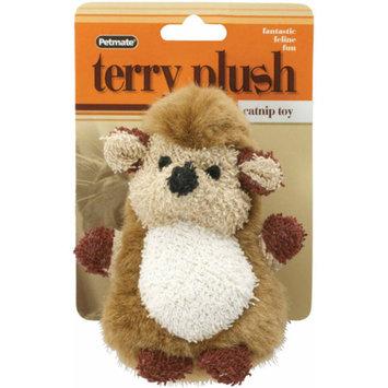 Petmate Aspen Pet 50629 Terry Plush Hedgehog Catnip Toy