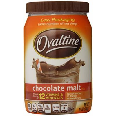 Nestlé Ovaltine Chocolate Malt, 12-Ounce Tubs (Pack of 6)
